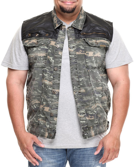 Parish Camo,Green Elevation Camo Vest (Big & Tall)