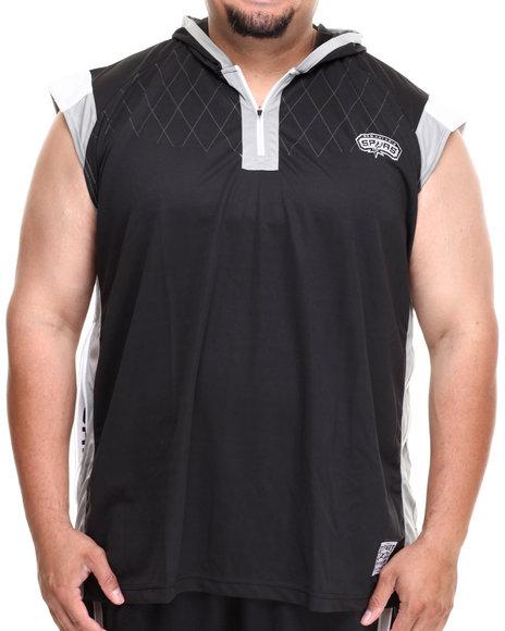 Nba, Mlb, Nfl Gear - Men Black San Antonio Spurs Fence Shooter Muscle Shirt (B&T)
