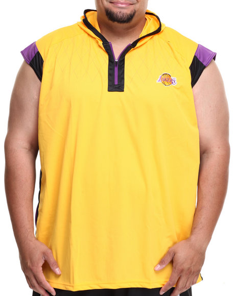 Nba, Mlb, Nfl Gear - Men Yellow Los Angeles Lakers Fence Shooter Muscle Shirt (B&T)