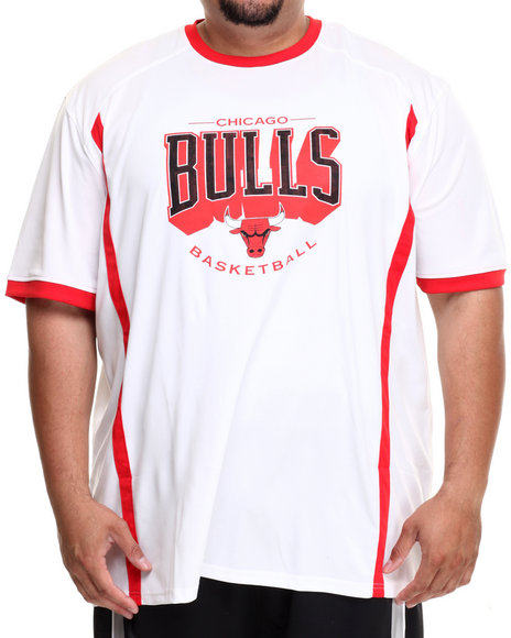Nba, Mlb, Nfl Gear - Men White Chicago Bulls Varsity Tee (B&T)