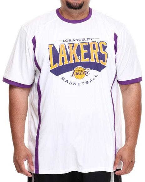 NBA, MLB, NFL Gear White Los Angeles Lakers Varsity Tee (Big & Tall)