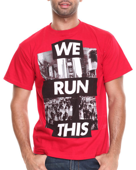 Buyers Picks - Men Red We Run This Tee - $18.99