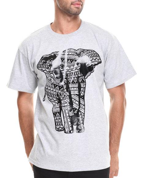 Basic Essentials - Men Grey Elephant Premium Print Tee - $15.99