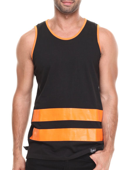 Flysociety - Men Orange Boardwalk Tank - $16.99