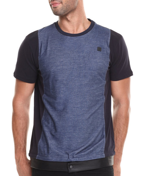 Forte' - Men Navy Triad Contrast - Panel S/S Tee