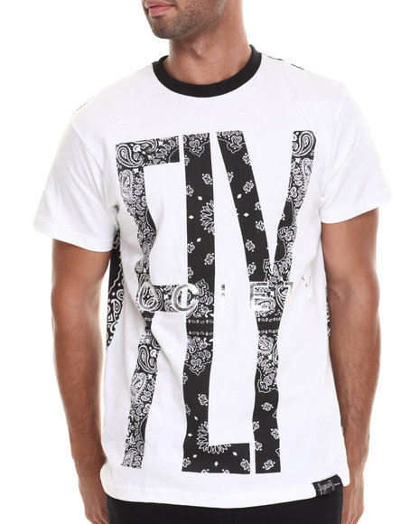 Flysociety - Men White Bandits T-Shirt - $35.99