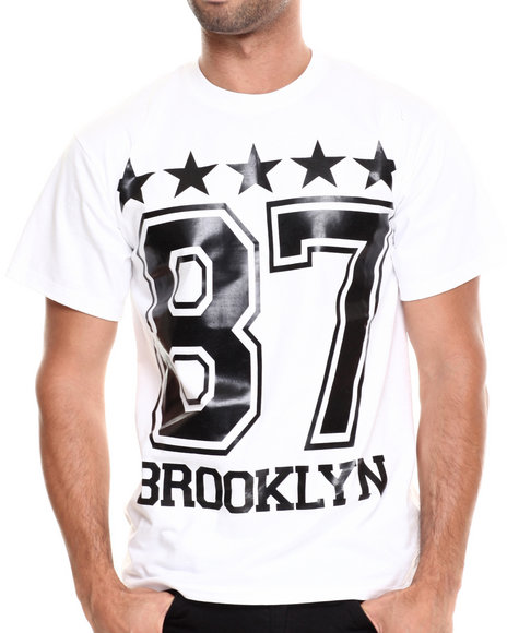 Buyers Picks - Men White Brooklyn Stars Tee - $20.99