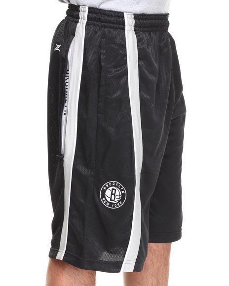Nba, Mlb, Nfl Gear - Men Black Brooklyn Nets Varsity Short
