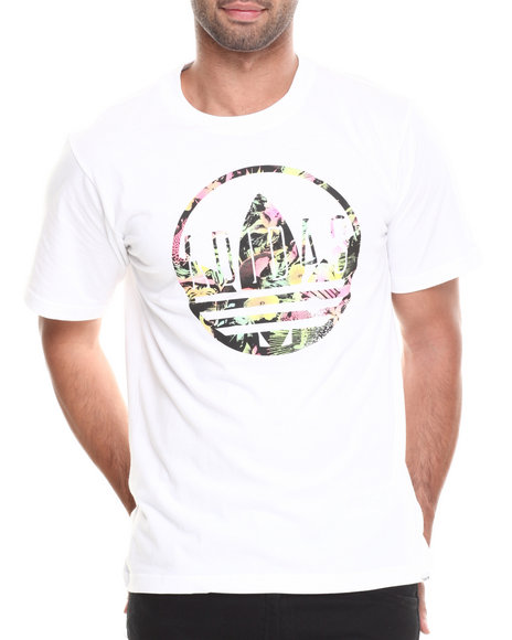 Adidas - Men White Circle Caps Tee - $17.99