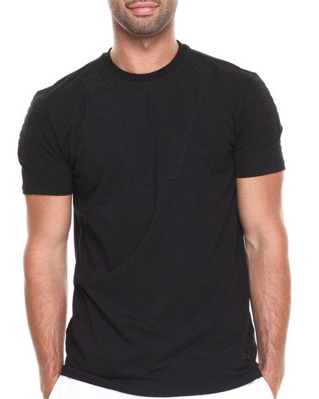 Hudson NYC Black 3 D Padded S/S Tee