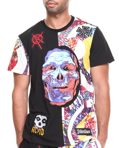 Rolling Paper Black Printed T-Shirt