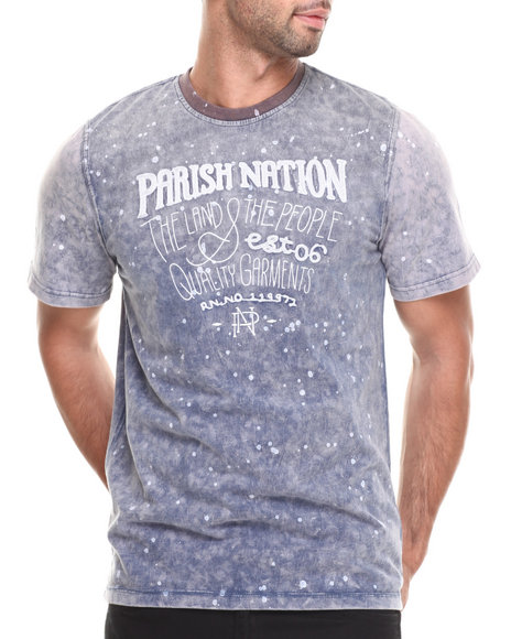 Parish Navy Graphic Indigo T-Shirt