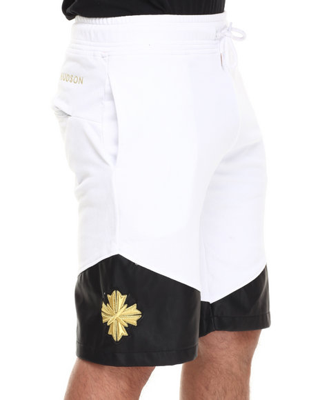 Hudson Nyc - Men White Bullion French - Terry Shorts