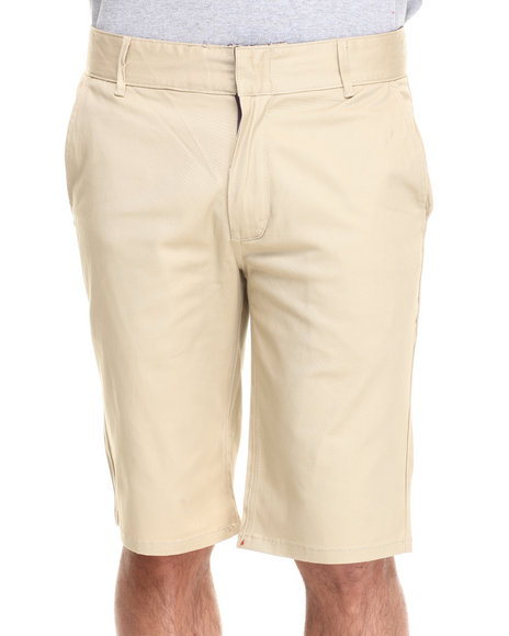 Altamont - Men Khaki Davis Slim Shorts - $34.99