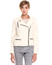 Maison Scotch - TEXTURED BIKER JACKET
