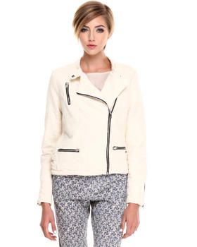 Jackets & Coats - TEXTURED BIKER JACKET