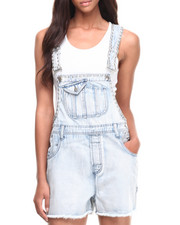 Jumpsuits - Metal Head Denim Overall Shorts