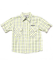 Sizes 4-7x - Kids - PLAID BUTTON DOWN SHIRT (4-7)