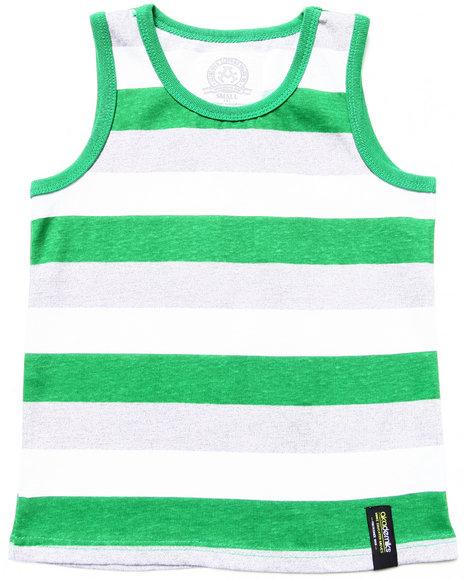 Akademiks - Boys Green Neon Sporty Tanktop (4-7)