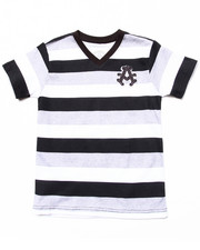 Sizes 4-7x - Kids - COTTON STRIPED V-NECK