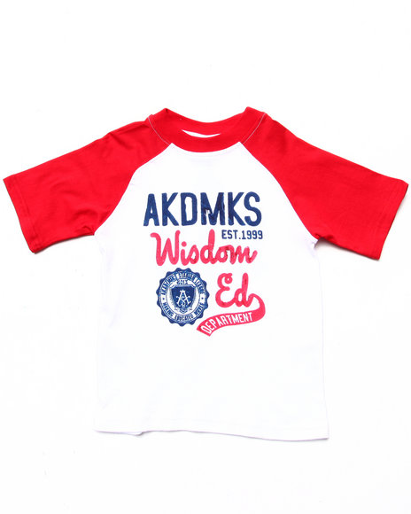 Akademiks - Boys White Throwback Graphic Tee (2T-4T) - $11.99