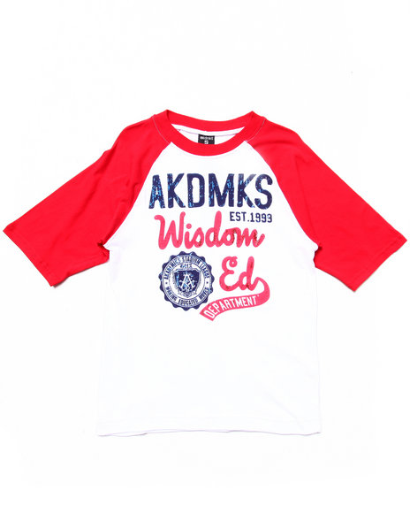 Akademiks - Boys White Throwback Graphic Tee (8-20) - $15.99