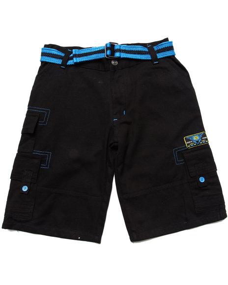Enyce Boys Black Belted Cargo Shorts (8-20)