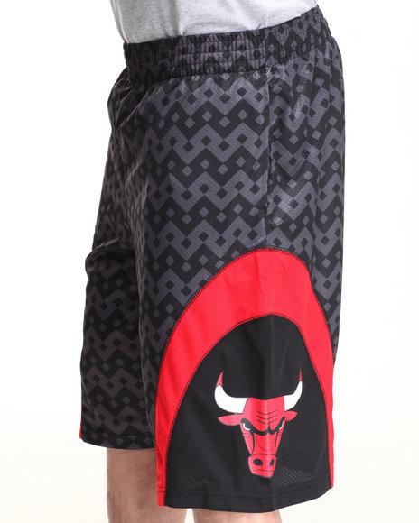 NBA, MLB, NFL Gear Black Chicago Bulls Team Aztec 1 Shorts