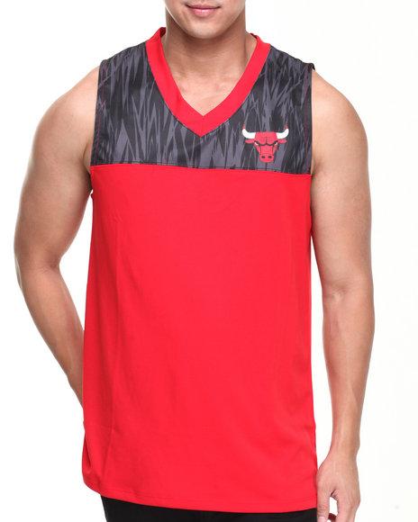 NBA, MLB, NFL Gear Red Chicago Bulls Asphalt Team Tank Top