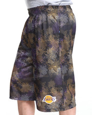 NBA, MLB, NFL Gear - Los Angeles Lakers Team Digi 1 Camo Shorts