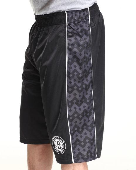Nba, Mlb, Nfl Gear - Men Black Brooklyn Nets Digi Camo 2 Shorts
