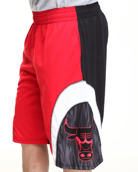 Nba, Mlb, Nfl Gear - Men Red Chicago Bulls Asphalt 1 Shorts