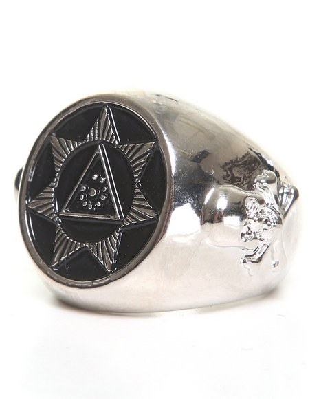 Blvck Scvle Men Seventh Star Ring Silver