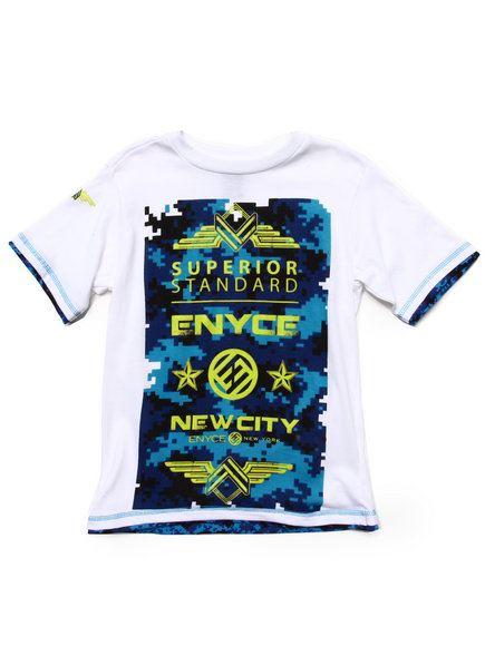 Enyce Boys White Superior Tee (8-20)