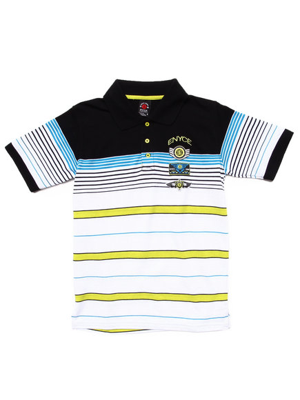 Enyce Boys White Striped Polo (8-20)