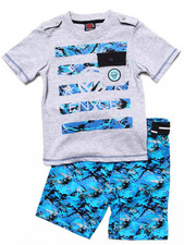 Sets - 2 PC SET - POCKET TEE & DIGI CAMO CARGO SHORTS (4-7)