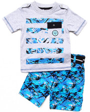 Sets - 2 PC SET - POCKET TEE & DIGI CAMO CARGO SHORTS (2T-4T)