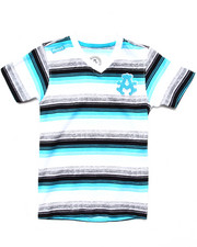 Sizes 4-7x - Kids - STRIPED V-NECK TEE (4-7)