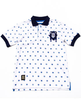 Akademiks - ALLOVER STAR POLO (8-20)