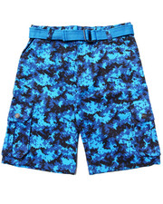 Enyce - BELTED DIGI CAMO CARGO SHORTS (8-20)