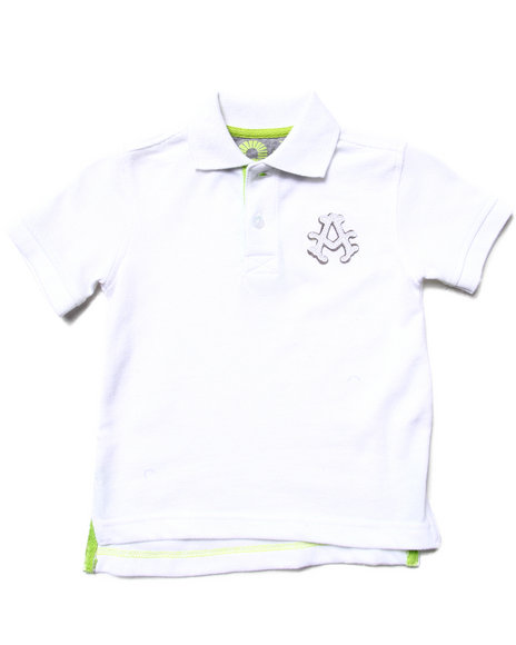 Akademiks - Boys White Solid Pique Polo (2T-4T) - $7.99