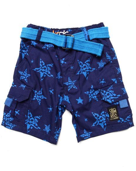 Akademiks Boys Blue Star Print Shorts (2T-4T)