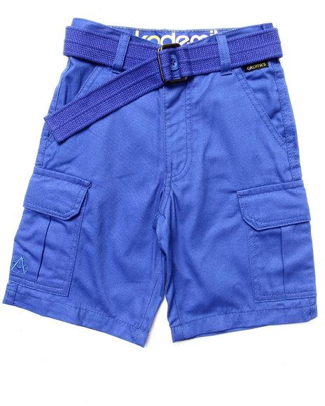 Akademiks - Boys Blue Belted Cargo Shorts (4-7)