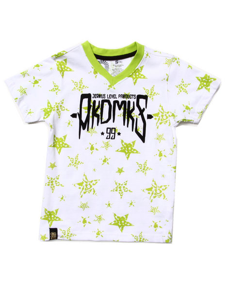 all over star print tee  4 7