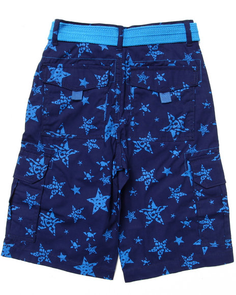 Akademiks - Boys Blue Star Print Shorts (8-20)
