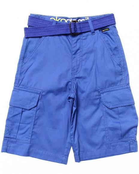 Akademiks - Boys Blue Belted Cargo Shorts (8-20)
