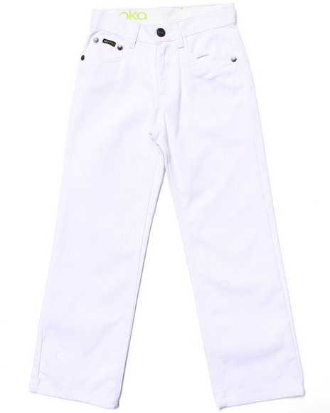 Akademiks Boys White Colored Jeans (8-20)