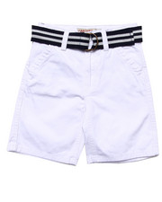 Bottoms - BELTED TWILL SHORTS (4-7)