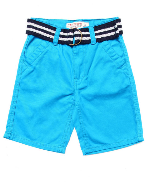 Arcade Styles - Boys Blue Belted Twill Shorts (4-7)