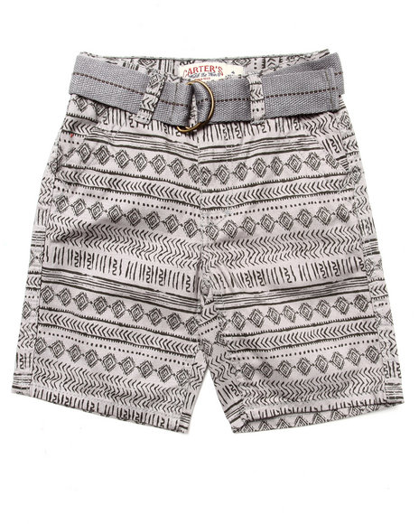 Arcade Styles Boys Grey Aztec Print Shorts (4-7)